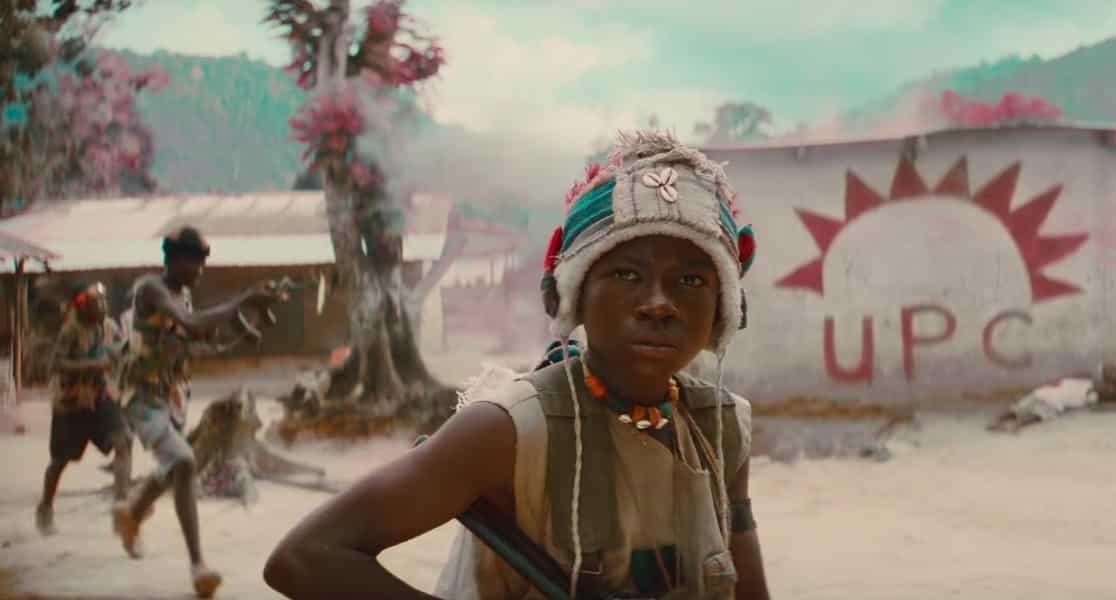 El joven actor Abraham Attah es Agu en la cinta 'Beasts of No Nation'. © 2015 - Netflix