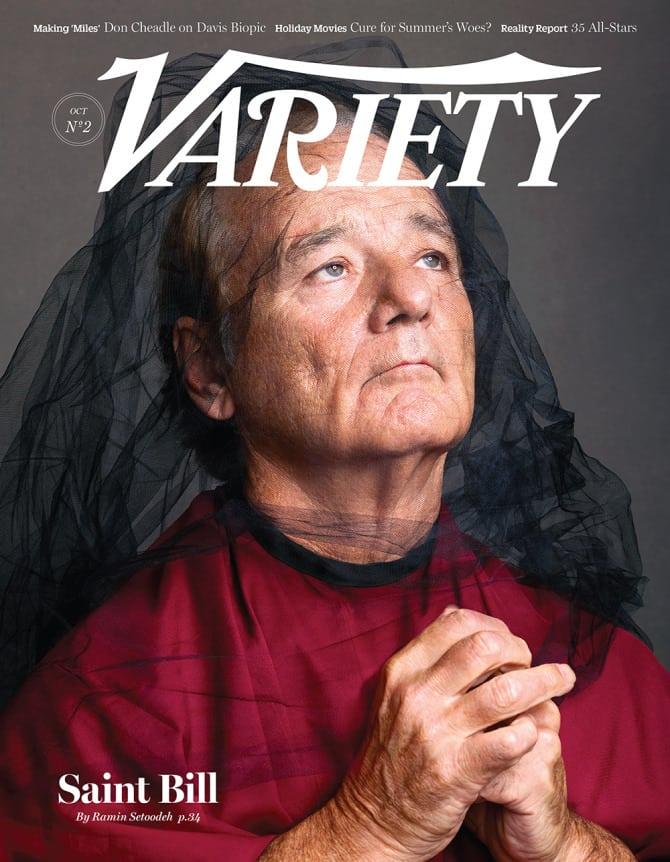 St. Vincent (Bill Murray) en la portada de la revista Variety