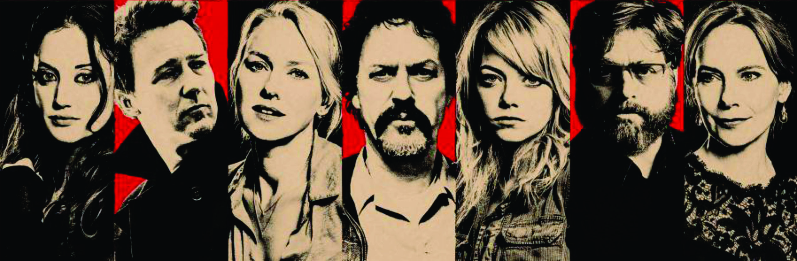 the red poster of Birdman