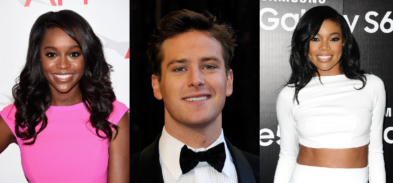 Aja Naomi King, Armie Hammer y Gabrielle Union, son parte del elenco de 'Birth of a Nation'.