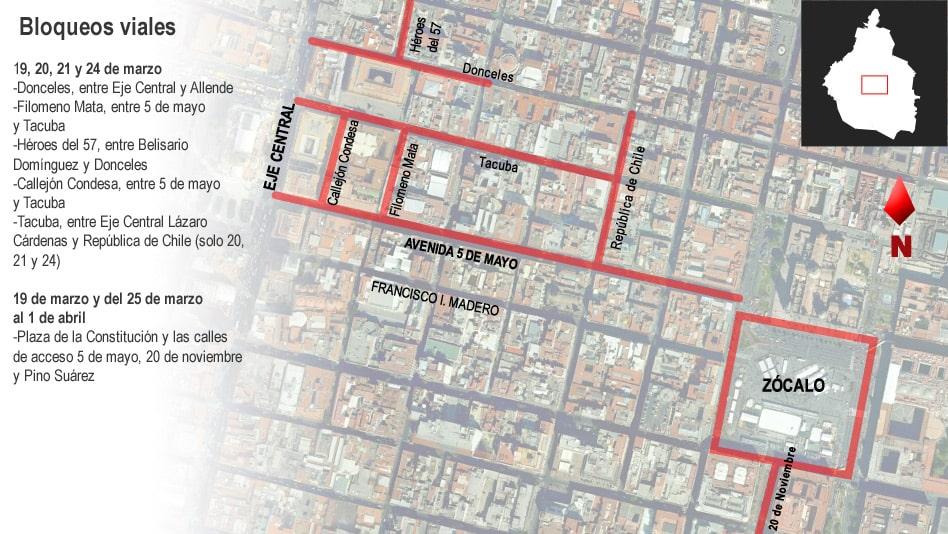 Estas serán las calles que se verán afectadas trás el paso de Spectre por México