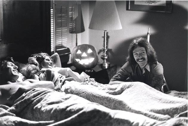John Carpenter en el set de Halloween.