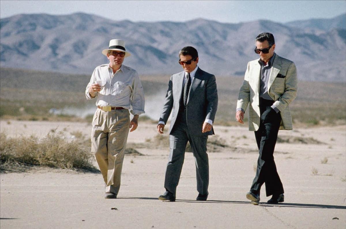 Martin Scorsese, Joe Pesci y Robert De Niro en el set de filmación de 'Casino' en 1995.