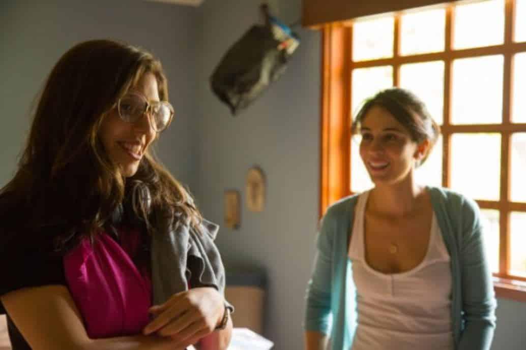catalina Aguilar Mastretta con  Cassandra Ciangherotti en el set