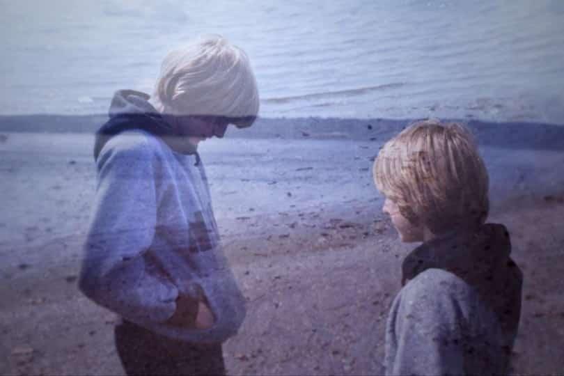 Un solitario adolescente Kurt Cobain.