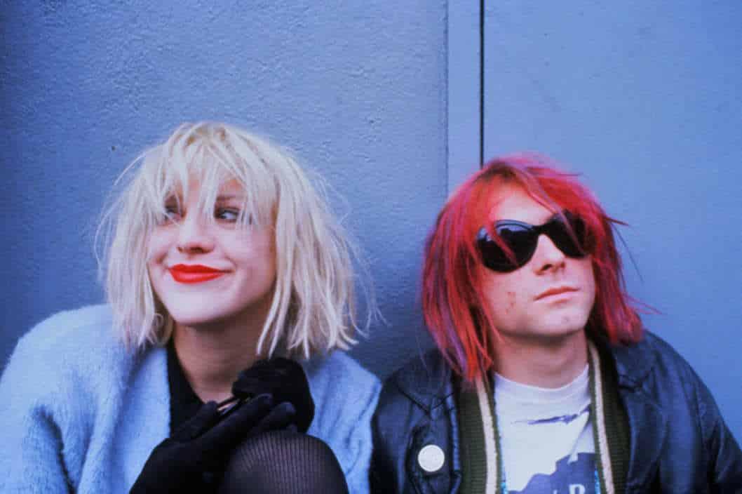 Courtney Love y Kurt Cobain.