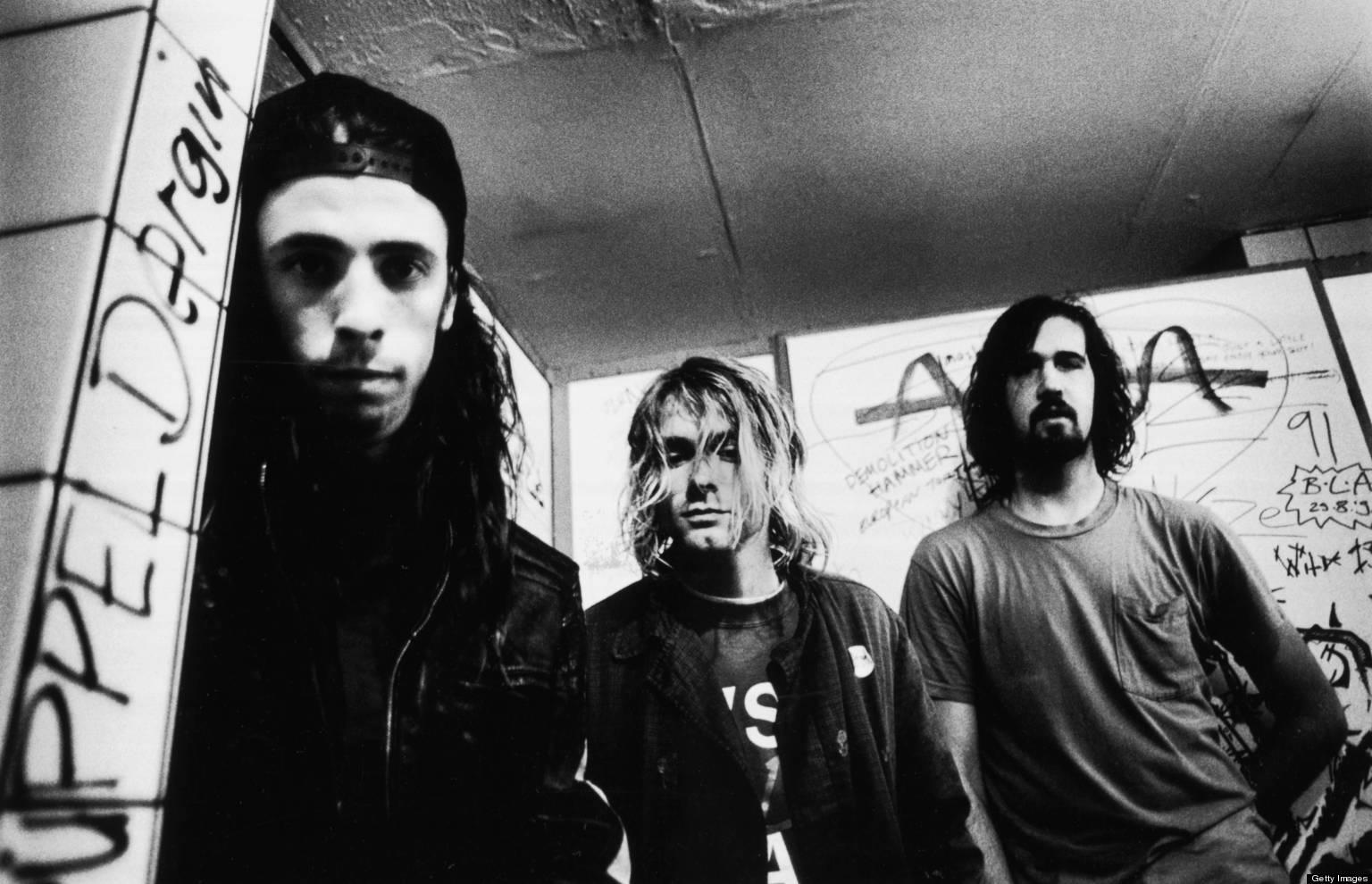 Dave Grohl, Kurt Cobain y Krist Novocelic, 'Nirvana'.