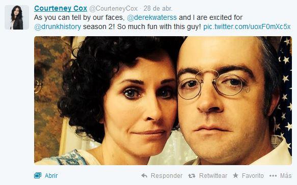 Imagen tomada de la cuenta de twitter de Courteney. Foto: Twitter