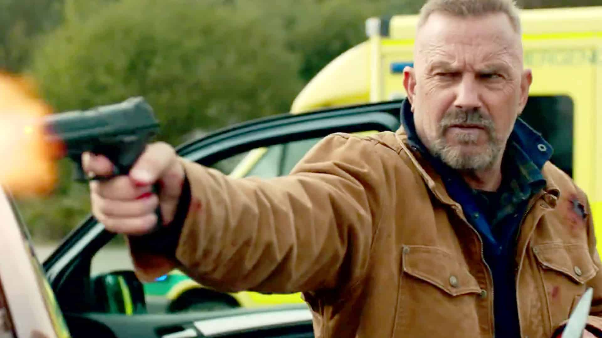 Kevin Costner en Mente Implacable (Criminal), © 2016 - Lionsgate.
