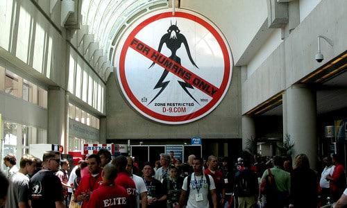 Promocional de District 9 en la Comic-Con