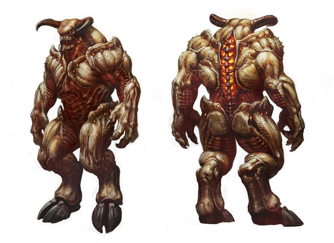#FightLikeHell against Pinky, the Baron of Hell, and these other iconic #DOOM demons in our concept art gallery on Bethesda.net