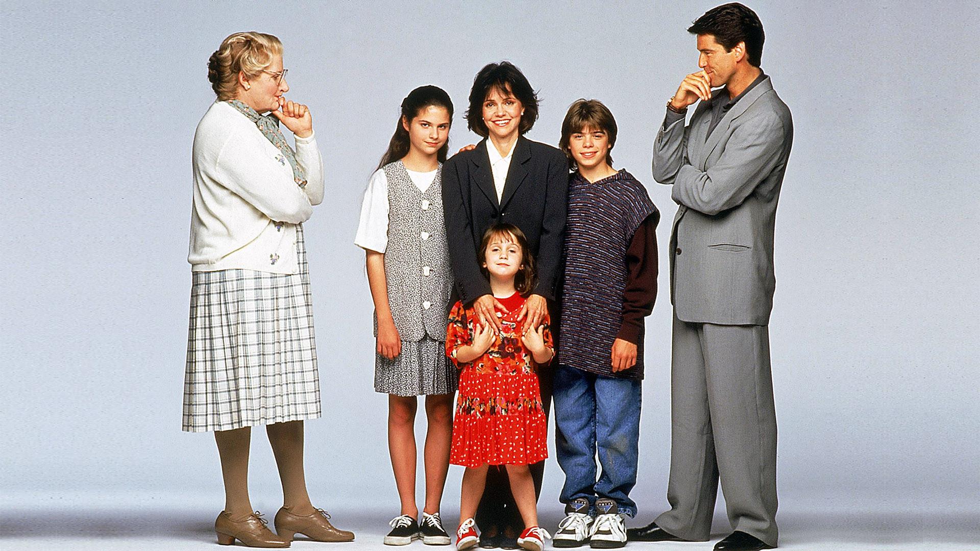 "El elenco de ""Mrs Doubtfire"" (1993)"