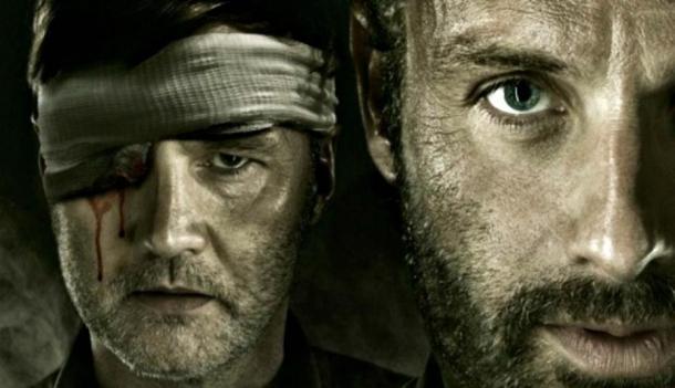 """Rick y el Gobernador en """"The Walking Dead"""""""