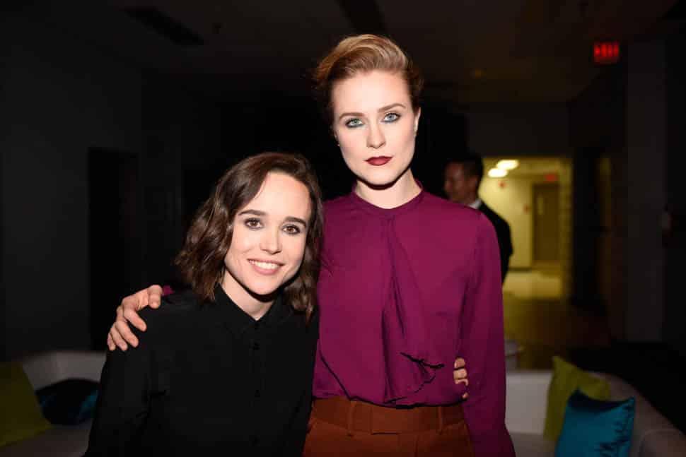 """Ellen Page y Evan Rachel Wood asisten a la premiere de """"Into the Forest"""" durante el Festival de Cine de Toronto en septiembre de 2015. (Foto por Jeff Vespa/WireImage)."""