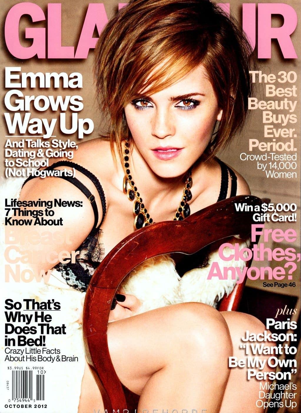 Emma Watson en la portada de la revista Glamour