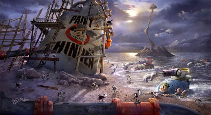 Uno de los escenarios del videojuego Epic Mickey
