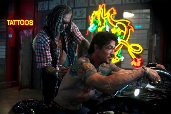 """Mickey Rourke y Sylvester Stalone en """"The Expendables"""""""