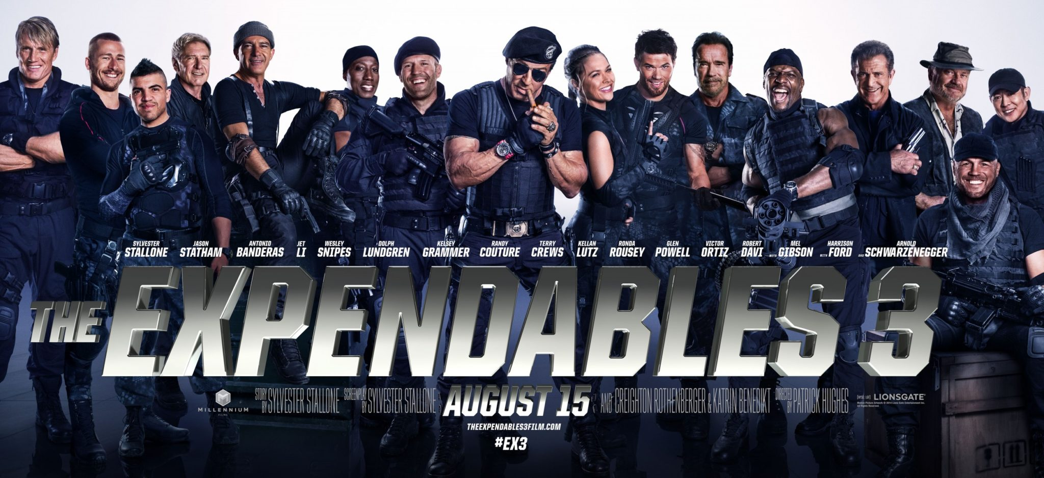 Imagen promocional de Expendables 3, parte de las cintas nominadas a los Razzies 2014. Los Premios Razzie ha anunciado los nominados  a los premios Razzie de 2014, entre los principales nominados están 'Transformers: Age of Extinction', 'A Million Ways to Die' y 'Sex Tape'. Los Premios Razzies 2014 han revelado sus nominados, entre los principales están Transformers: Age of Extinction', 'A Million Ways to Die', 'Sex Tape', 'Saving Christmas de Kirk Cameron', 'Noah' y 'Left Behind' de Nicolas Cage.