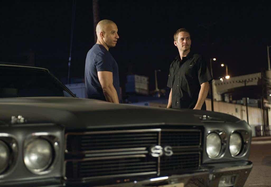 Vin Diesel y Paul Walker en Rapidos y Furiosos