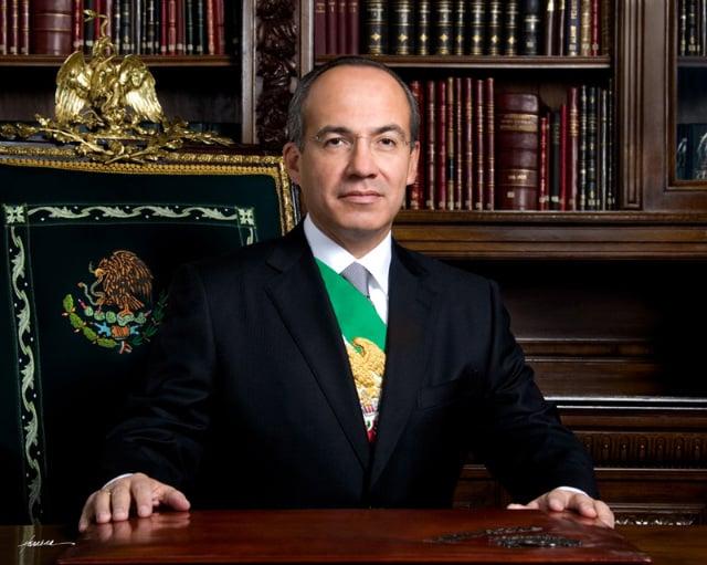 Felipe Calderón. Presidente Constitucional de los Estados Unidos Mexicanos.