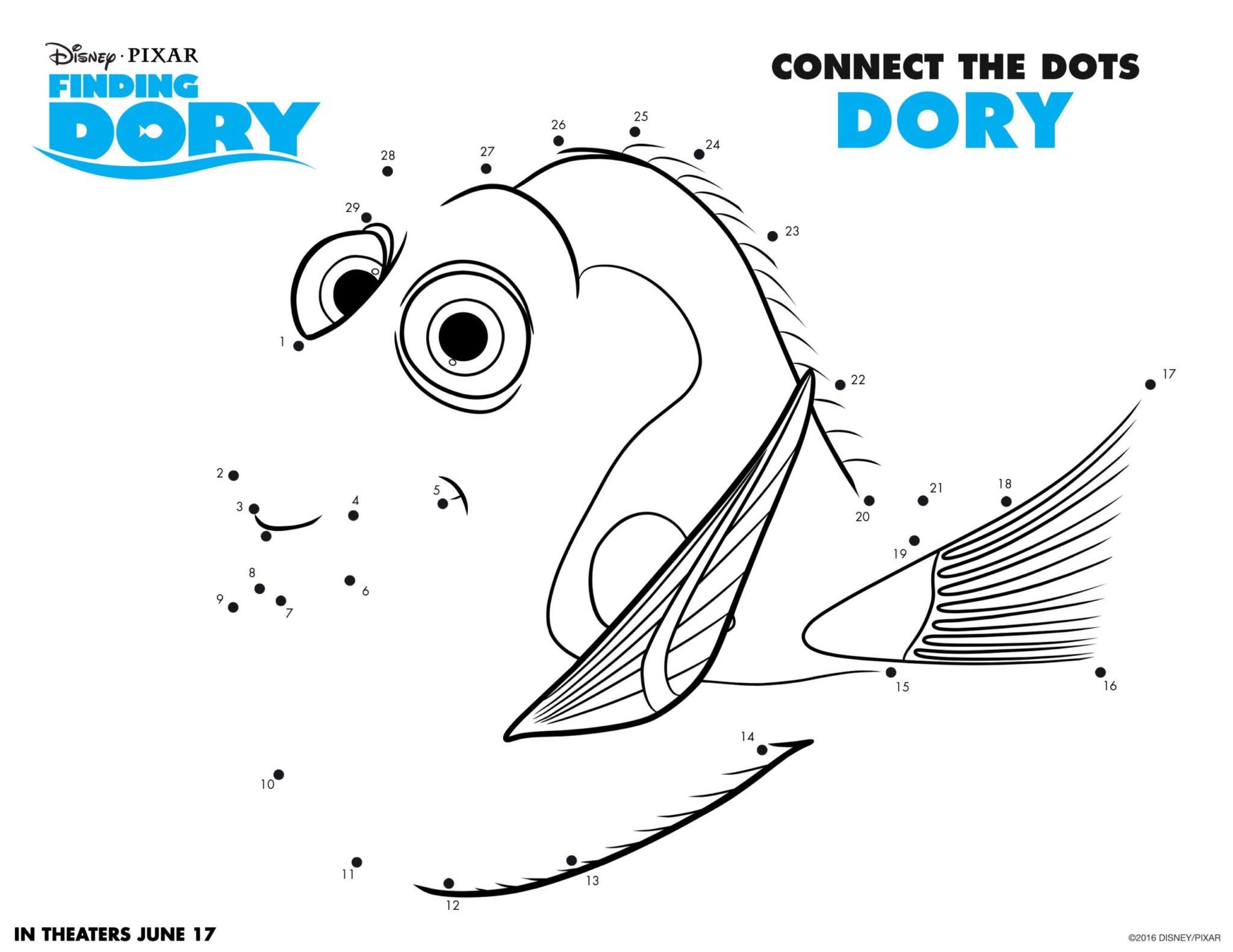 Conecta los puntos - Buscando a Dory