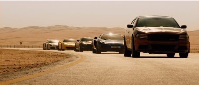 Secuencia de acción en 'Rápidos y Furiosos'. © Universal Pictures 2014.