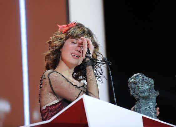 Uno de los momentos más emotivos de la entrega de los Goya