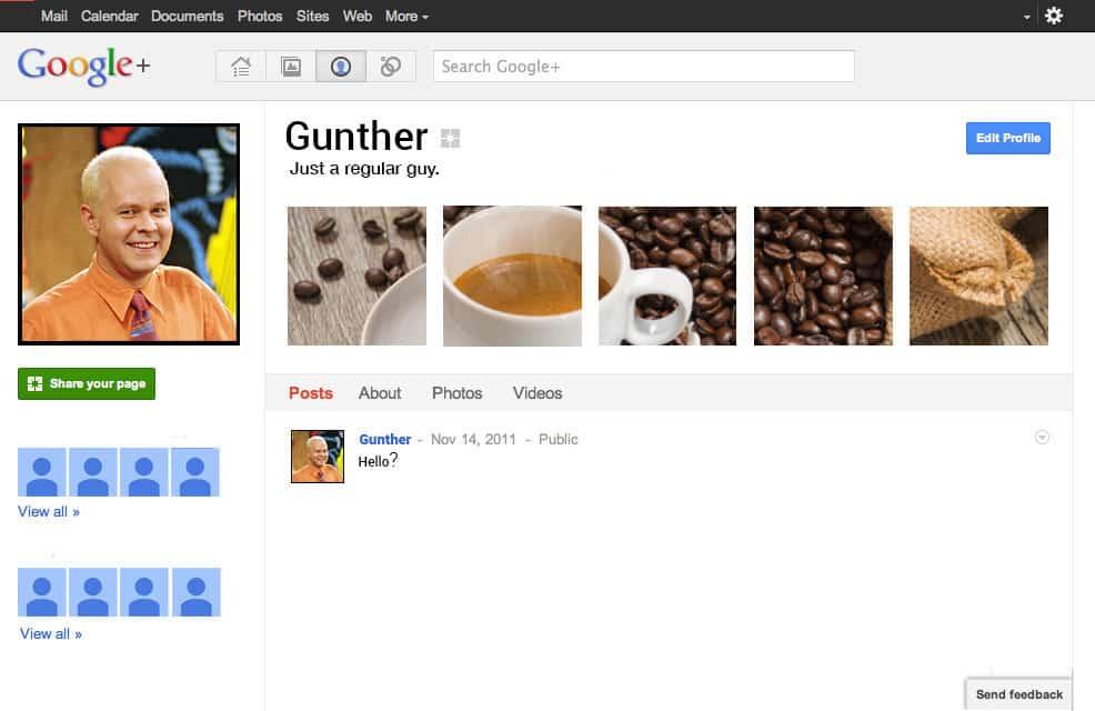 Al parecer Gunther no es nada popular...