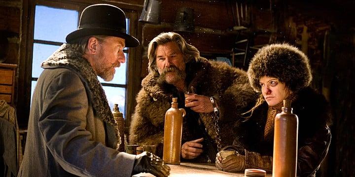 Tim Roth, Kurt Russell y Jennifer Jason Leigh en 'Los 8 Más Odiados', la más reciente cinta del cineasta Quentin Tarantino. © 2015 - The Weinstein Company