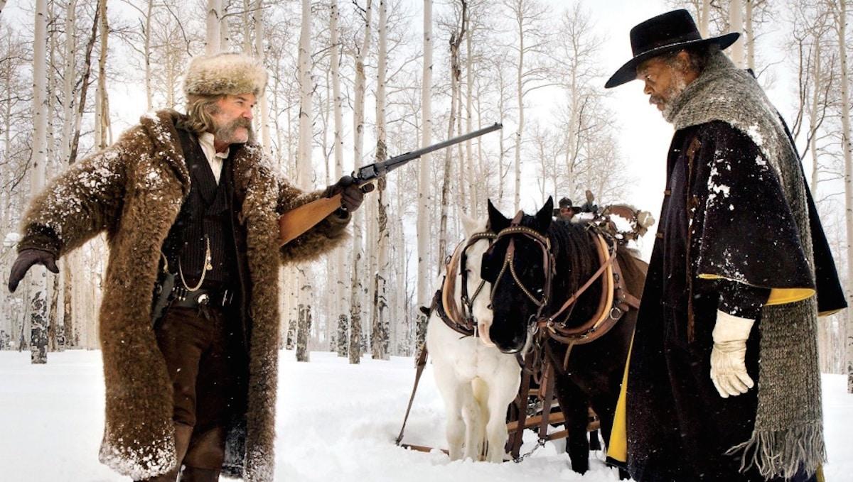 Kurt Russell y Samuel L. Jackson en 'The Hateful Eight', la octava producción del cineasta Quentin Tarantino. © 2015 - The Weinstein Company