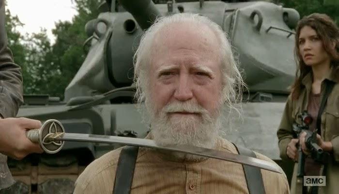 """Hershel a punto de morir en """"The Walking Dead"""""""