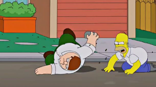 Imagen promocional del Cross-Over entre Los Simpsons y Family Guy por parte de FOX.