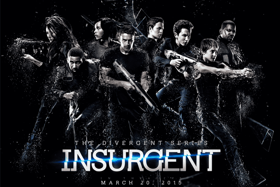 Póster promocional con parte del elenco de 'Insurgente'