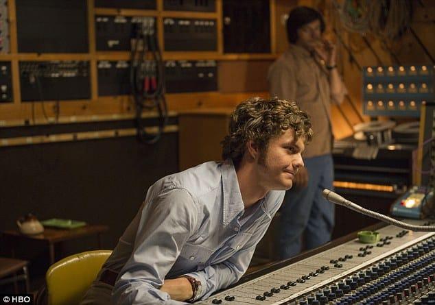 Jack Quaid en 'Vinyl' de HBO.