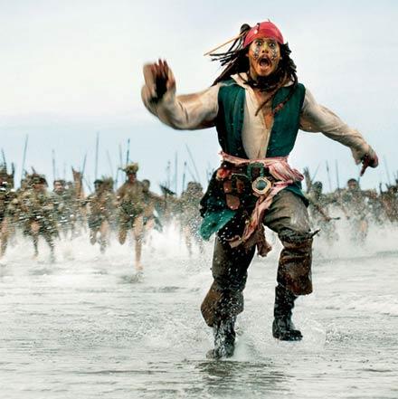 Johnny Depp como Jack Sparrow