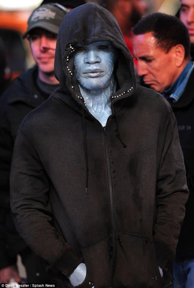 Jamie Foxx como Electro en The Amazing Spiderman 2 / Fotografia: Splash News