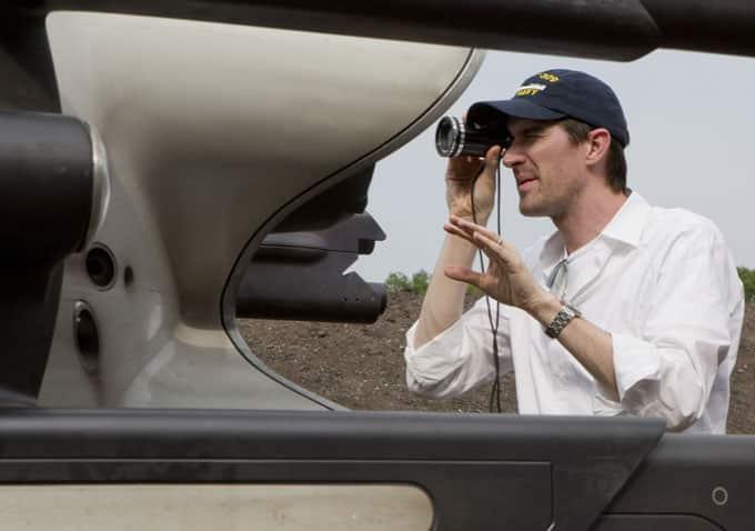 Joseph Kosinski filmando 'Oblivion'