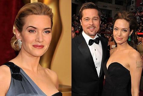 Kate Winslet, Brad Pitt y Angelina Jolie, los tres se encuentran nominados, pero solo Kate tiene posibilidades reales de terminar esta noche con una estatuilla, aunque enfrentará a Meryl Streep