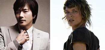 Kwon Sang-woo será Kato y Milla Jovovich será Alice