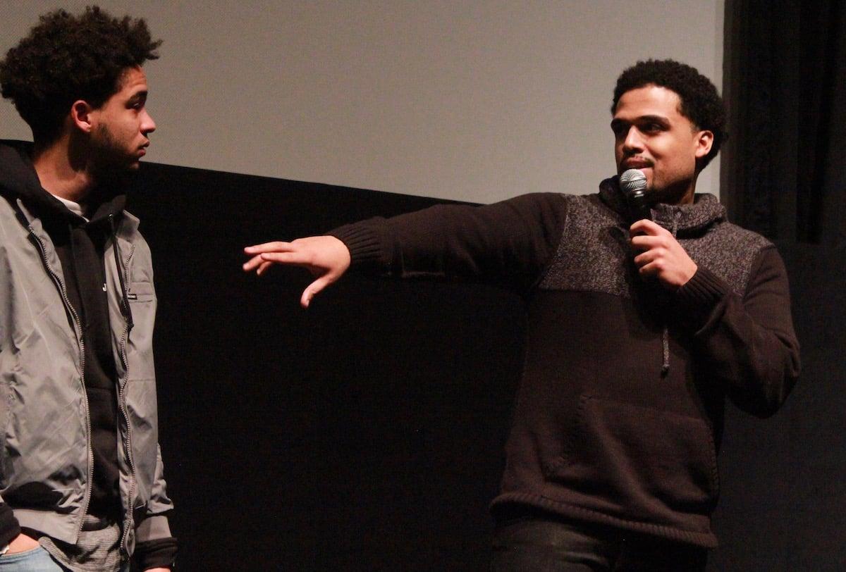 """Jorge Lendeborg Jr. t Steven Caple Jr. en la premiere de """"The Land"""" en la más reciente edición del Sundance Film Festival"""