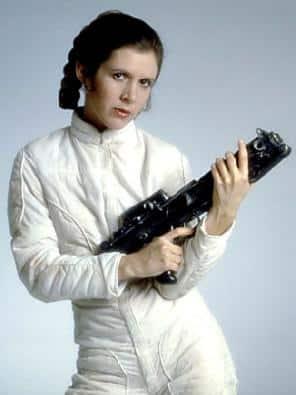Carrie Fisher interpreto a Leia Organa