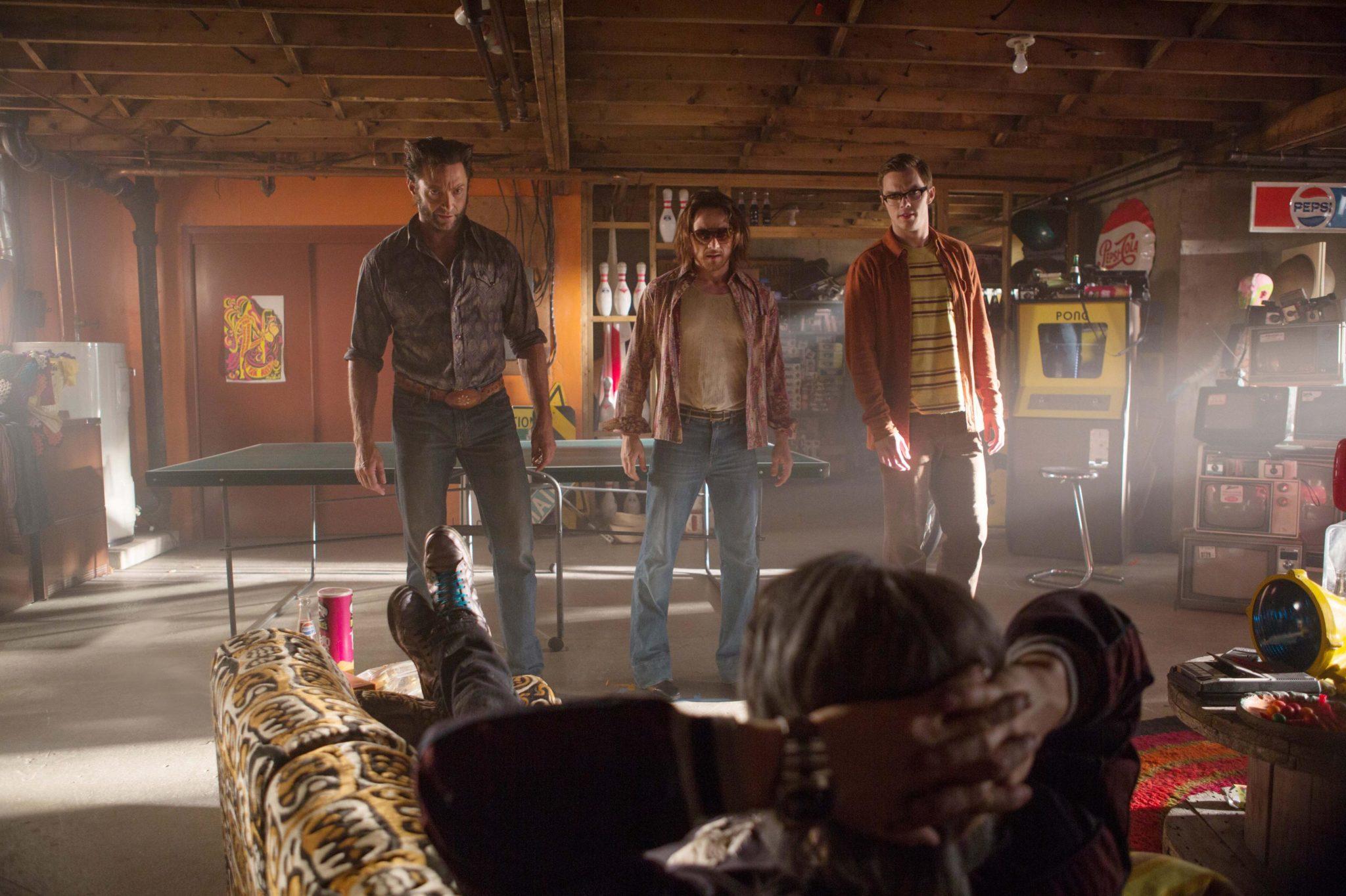Logan,Xavier,Hank,Quicksilver