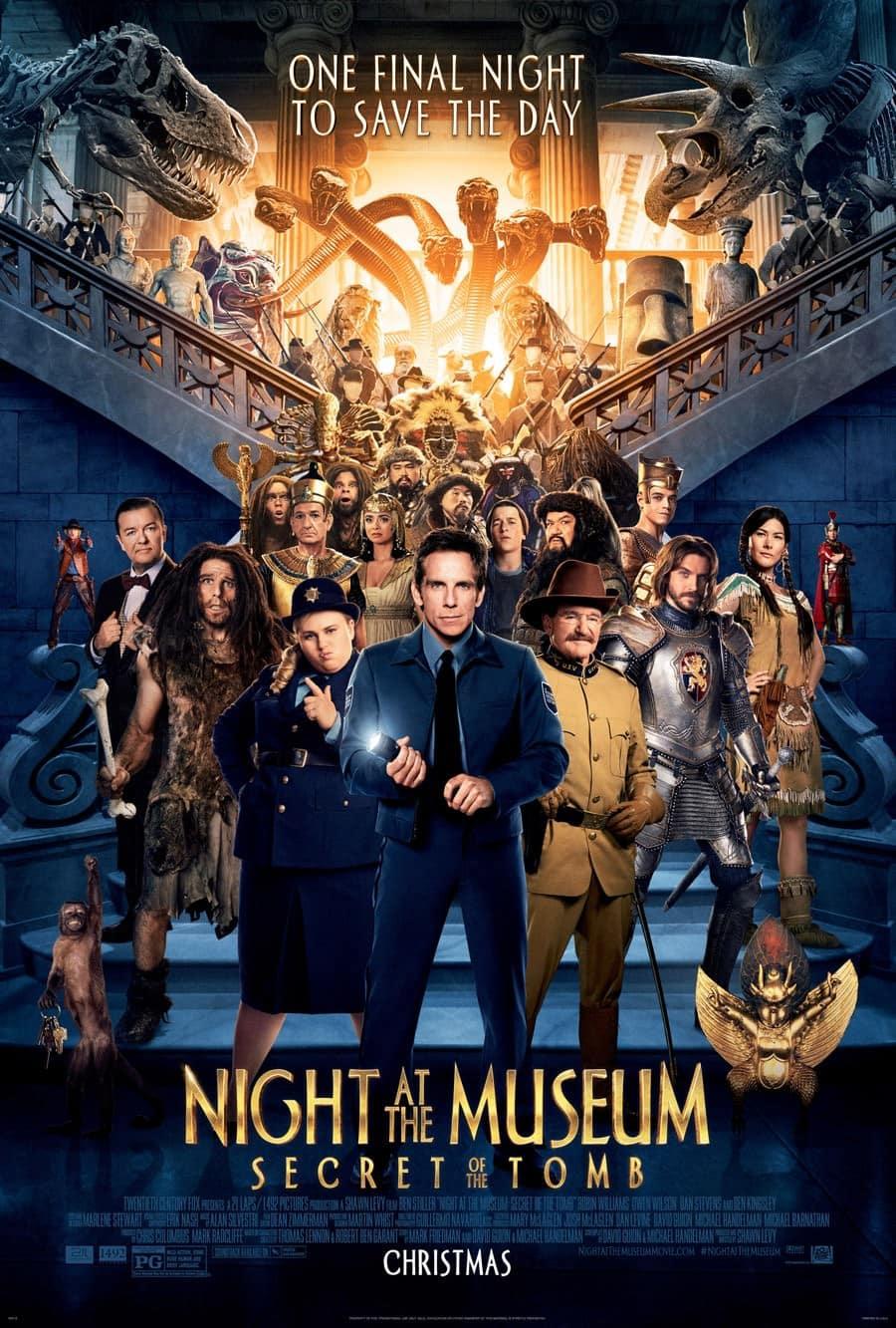 los personajes de una noche en el museo 3 - el secreto de la tumba