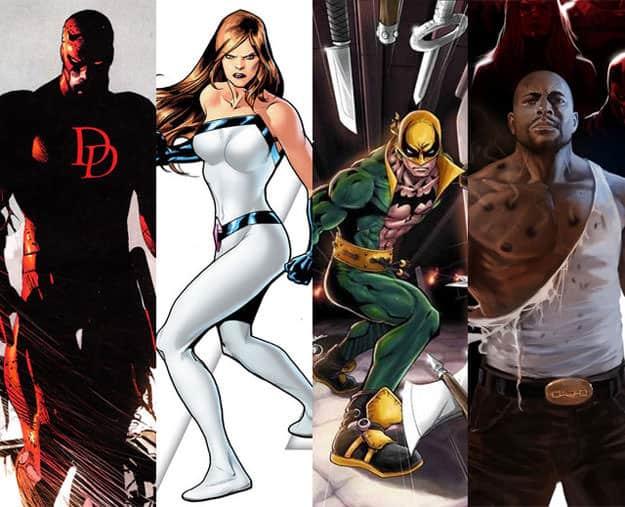Daredevil, Jessica Jones, Iron Fist And Luke Cage