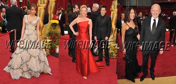 Miley Cyrus, Virginia Madsen y Anthony Hopkins - Oscar 2009