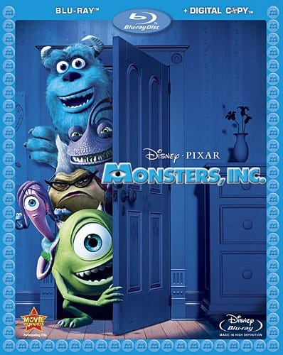 Portada de Monsters Inc. blu-ray