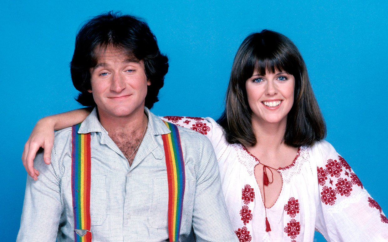 Robin Williams y Pam Dawber