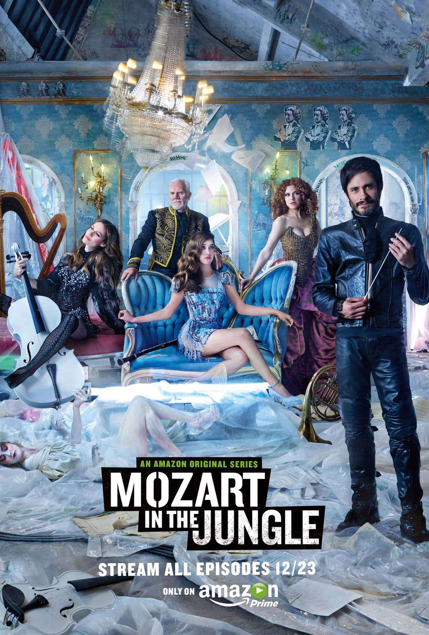 "Poster de ""Mozart in the Jungle"" con Gael García Bernal"
