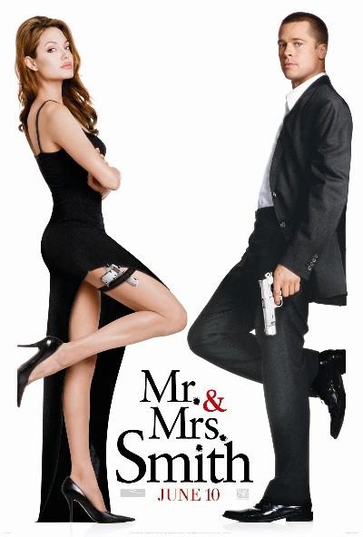 """Brad Pitt y Angelina Jolie en """"Sr y Sra Smith"""""""