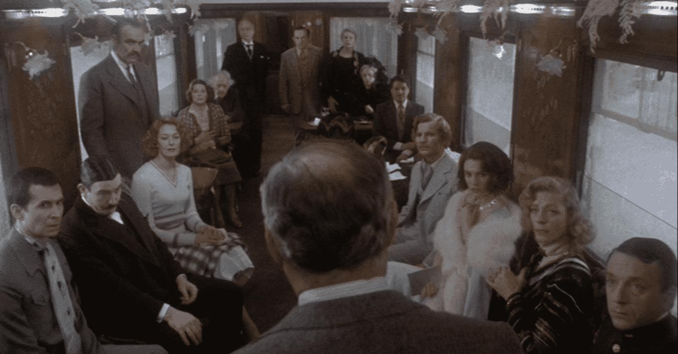 'Murder On The Orient Express' (1974), protagonizada por Albert Finney, Ingrid Bergman, Lauren Bacall, Sean Connery y Jacqueline Bisset.
